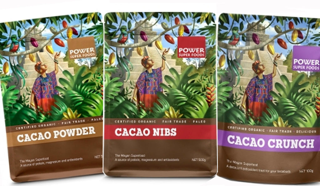 Power Super Foods Cacao Powder, Nibs and Crunch