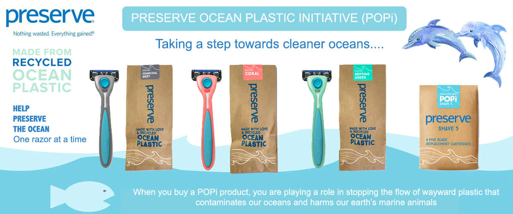 Preserve (POPi) Recycled Razors & Replacement Blades | Pamper by Nature