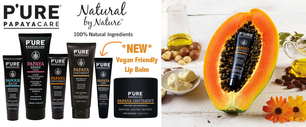 Pure Papaya Care Ointment, Lip Balm, Vapour Balm & Renew Stretch Mark Cream