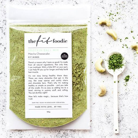 The Fit Foodie Protein Ball Mix - Matcha Cheesecake