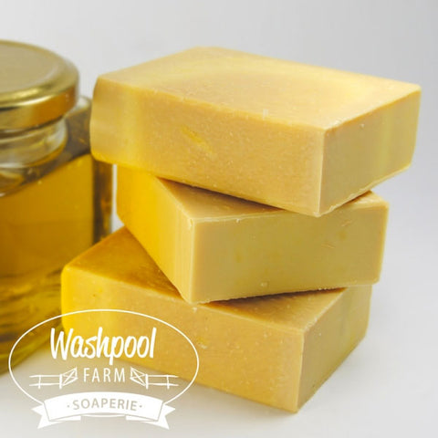 Washpool Farm Extra Virgin Olive Oil, Carrot, Calendula and Manuka Honey Handmade Soap