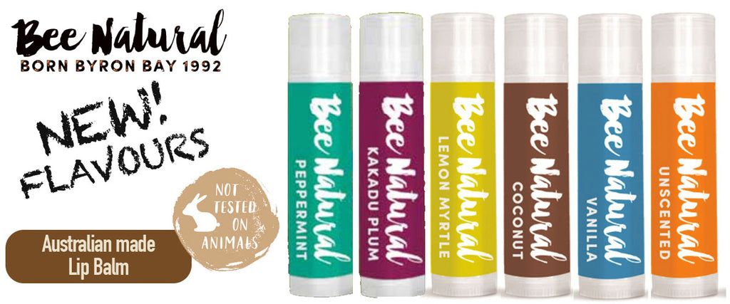 Bee Natural Australian Made Lip Balm - New Flavours