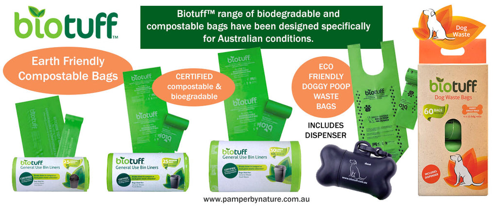Biotuff Earth Friendly Compostable Bags | Pamper by Nature