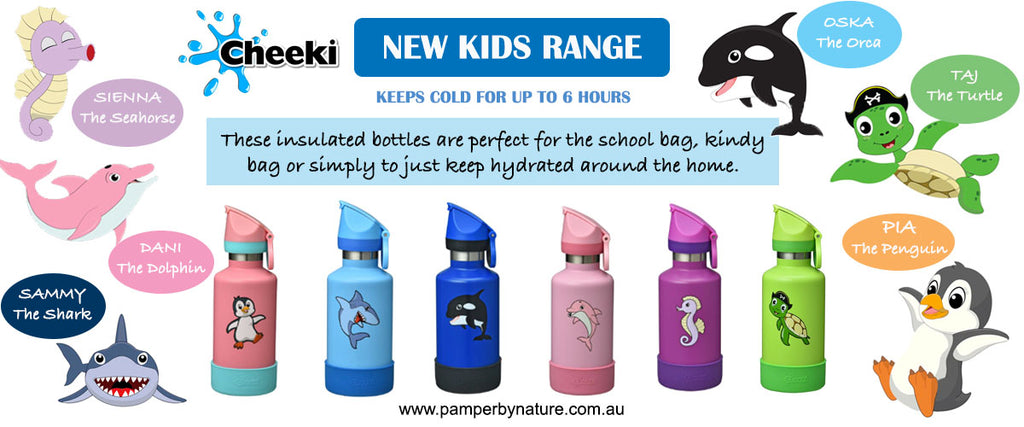 Cheeki Insulated Kids Bottles | Pamper by Nature