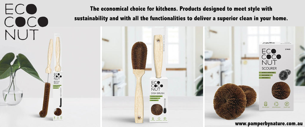 EcoCoconut 100% Plastic Free Coconut Products - Pamper by Nature