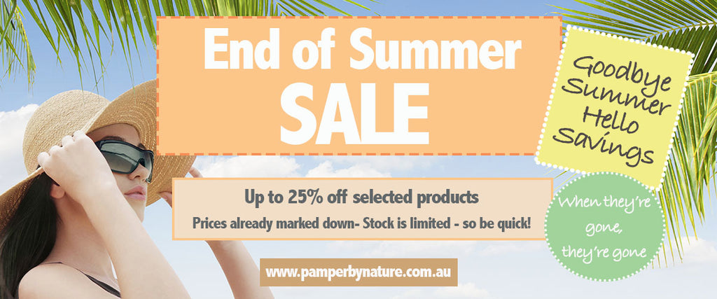 End of Summer Sale - Pamper by Nature