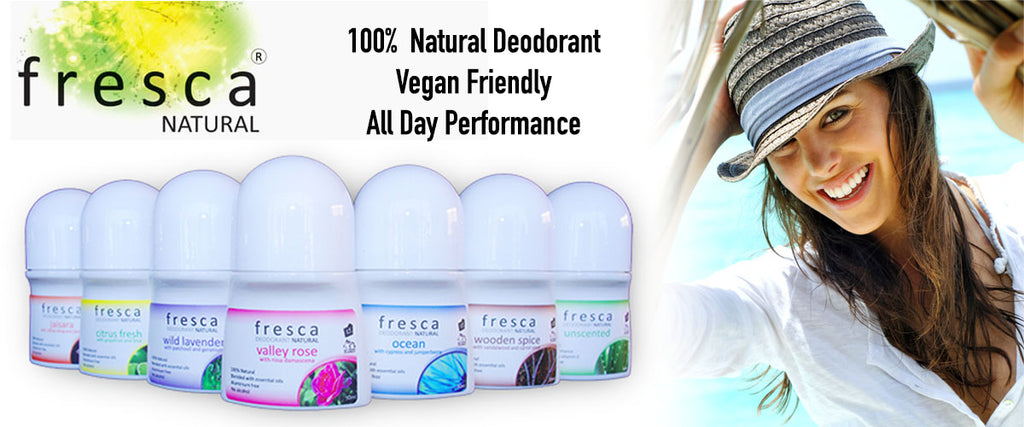 Fresca Natural 100% Natural, Vegan Friendly Deodorants