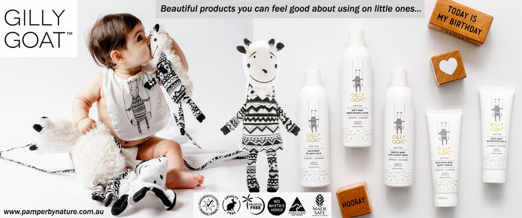 Gilly Goat Premium Baby Skincare Products - Pamper by Nature