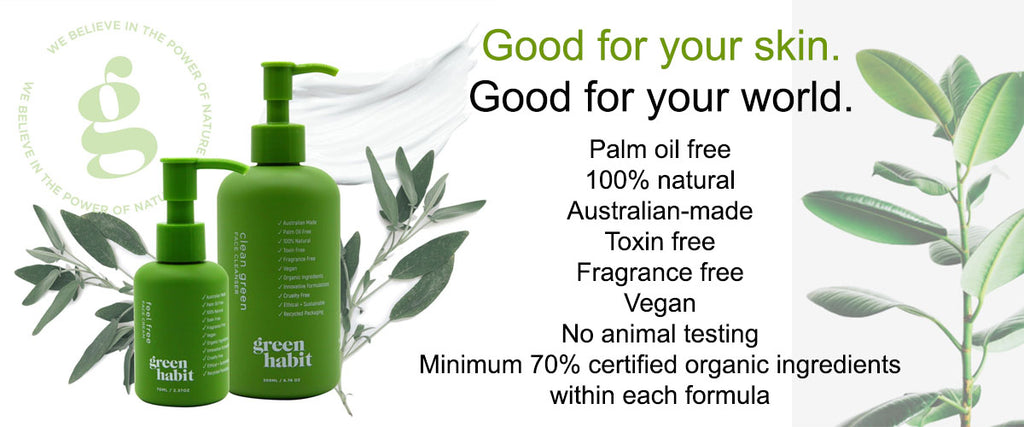 Green Habit Vegan Friendly Skin Care Range
