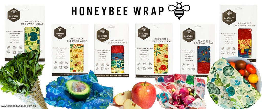 Honeybee Wrap Reusable Bees Wax Wraps - Pamper by Nature