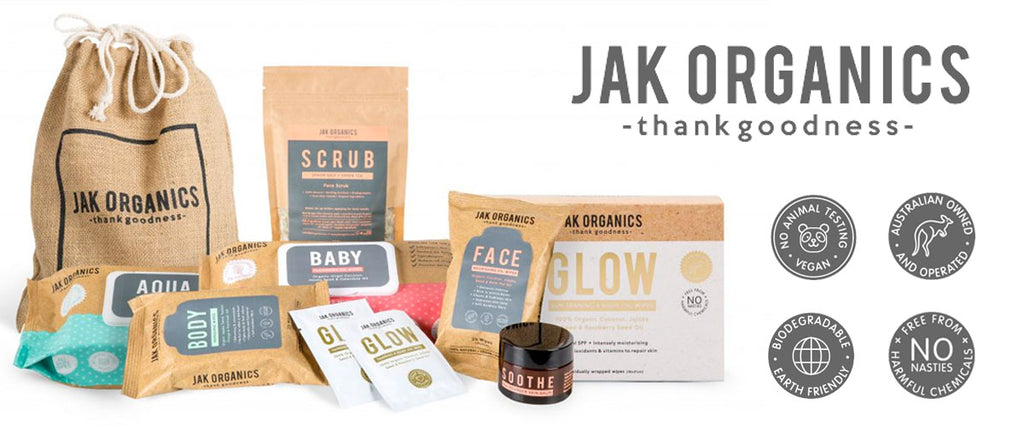 Jak Organics 100% Natural Skin Care - Face, Body & Baby Wipes