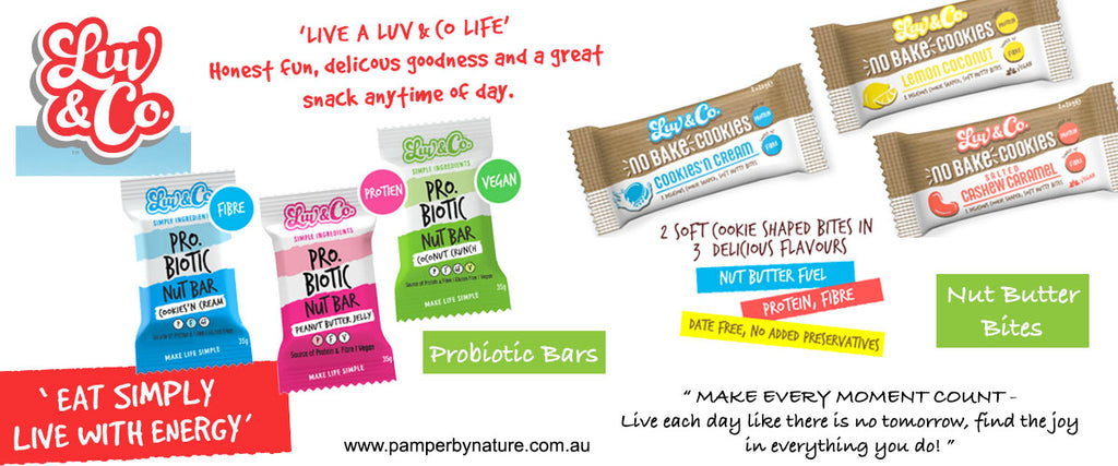 Luv & Co Healthy Snack Bars | Pamper by Nature