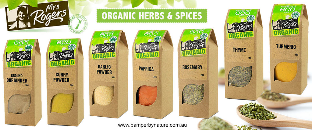 Mrs Rogers Organic Herbs & Spices | Pamper by Nature