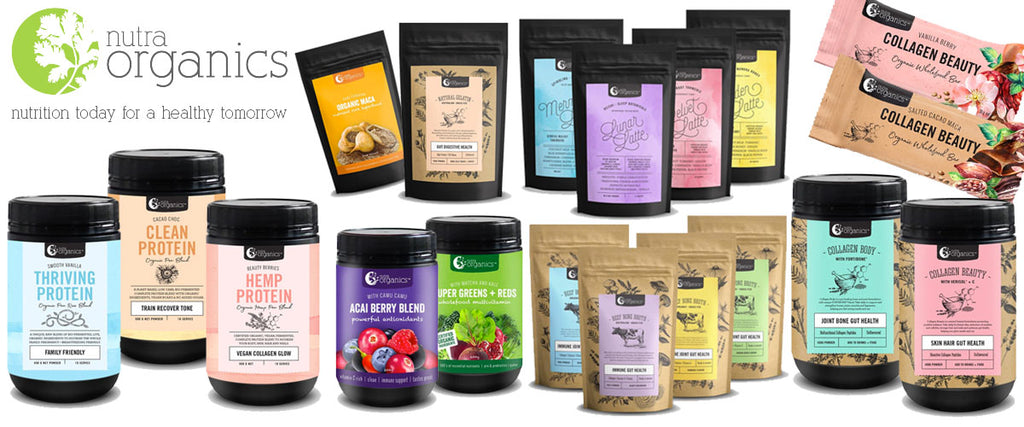 Nutra Organics Certified Organic Wholefoods, Collagen, Proteins & Broths