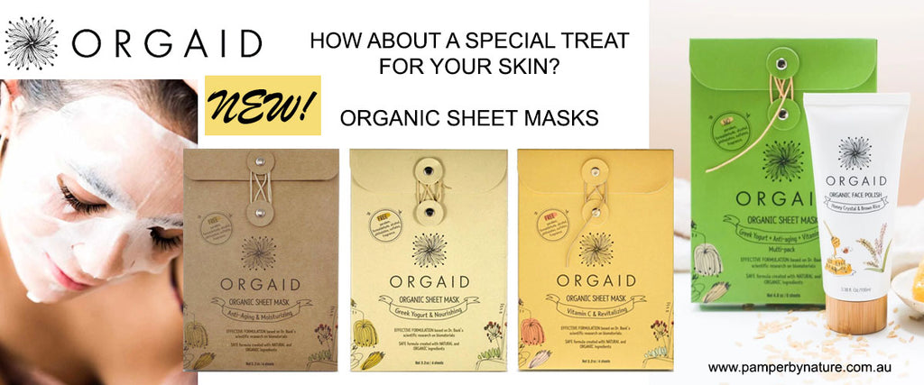 Orgaid Organic Sheet Face Masks - Pamper by Nature