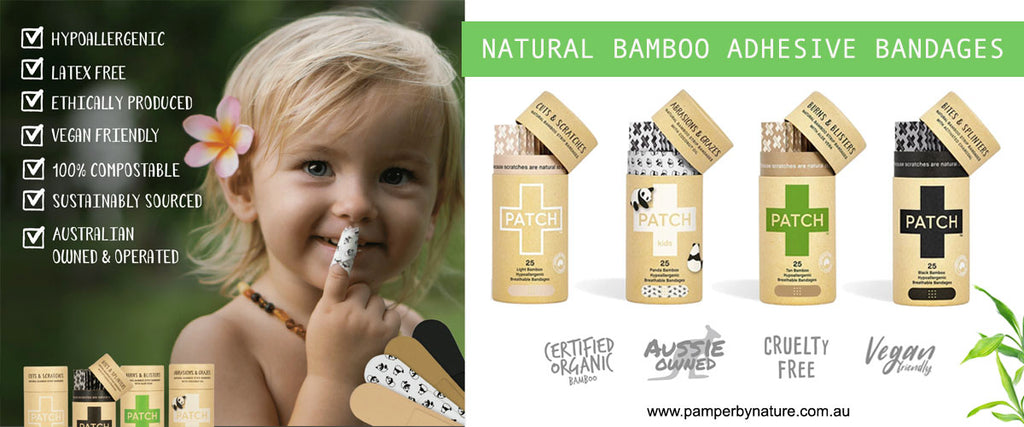 Patch Natural Bamboo Adhesive Bandages | Pamper by Nature