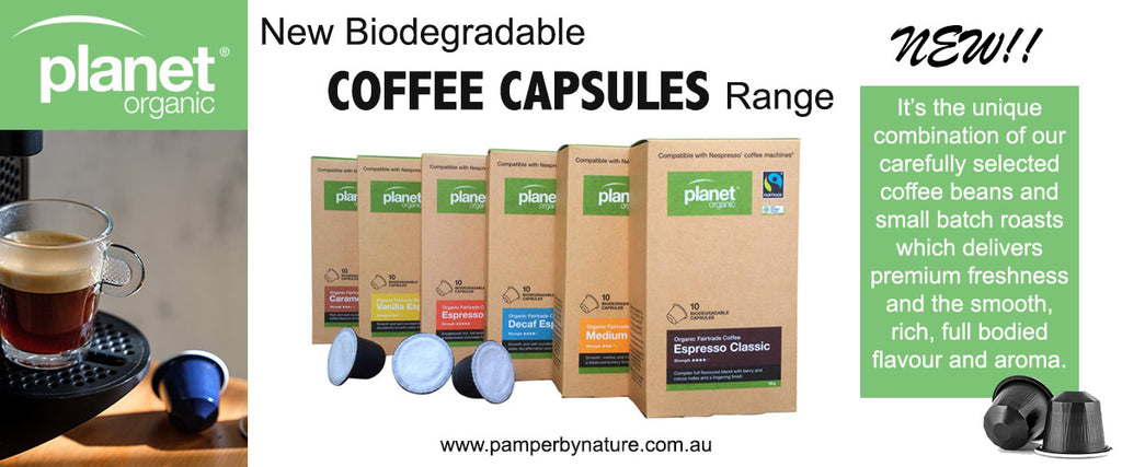 Planet Organic New Biodegradable Coffee Capsules | Pamper by Nature
