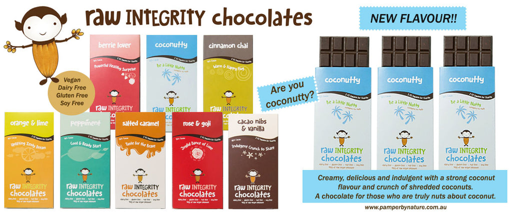 Raw Integrity 100% Vegan Chocolate - Pamper by Nature