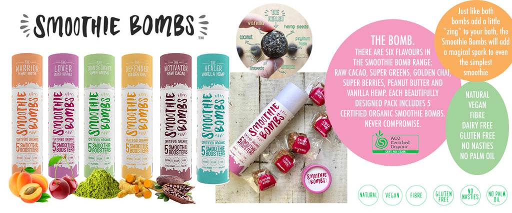 Smoothie Bombs Vegan, Gluten & Dairy Free - Pamper by Nature