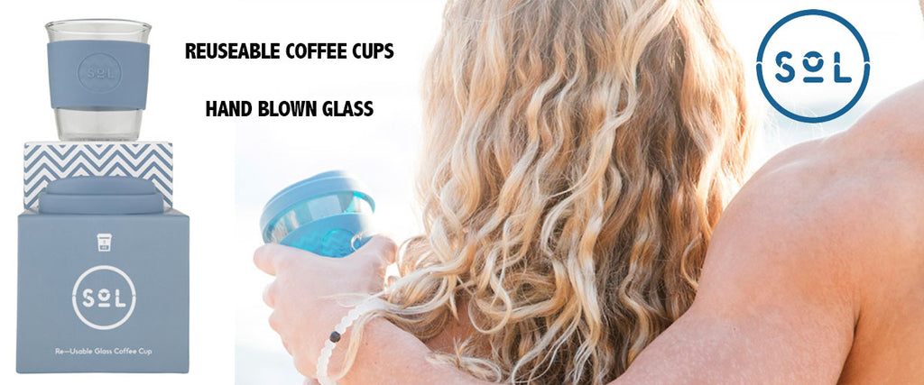 Sol Cups Glass Reusable Coffee Cups - Pamper by Nature