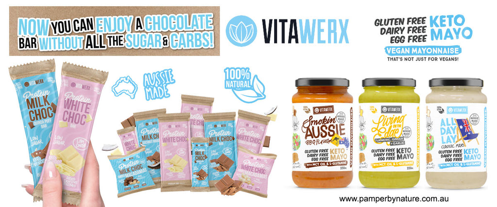 Vitawerx Guilt Free Protein Chocolate & Vegan Keto Mayo | Pamper by Nature