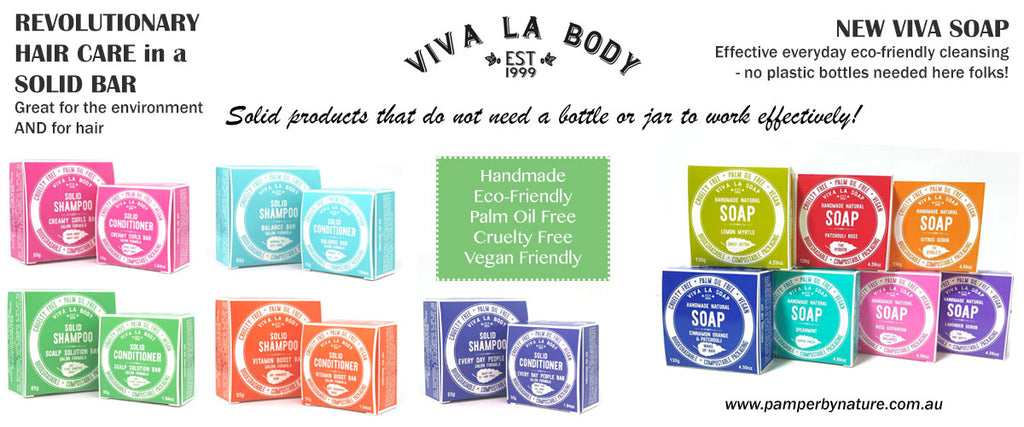 Viva La Body Solid Shampoo & Conditioner Bars & Handmade Natural Soaps
