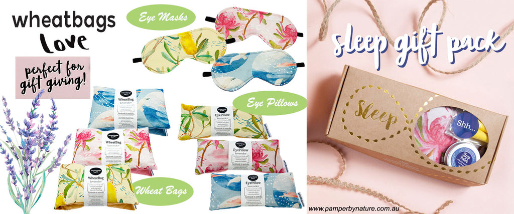 Wheatbags Love Heat Packs, Eye Pillows & Eye Masks | Pamper by Nature