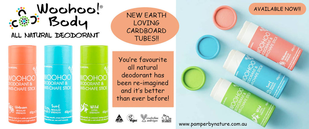 Woohoo All Natural Deodorant & Anti-Chafe Sticks - Pamper by Nature