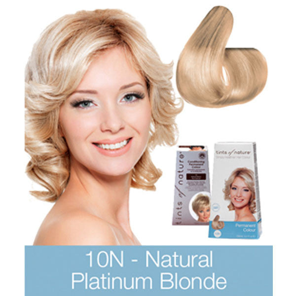 Tints of Nature Permanent Hair Colour Natural Platinum Blonde - 10N