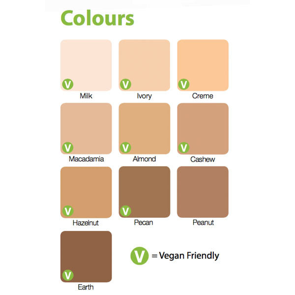 Zuii Certified Organic Flora Powder Foundation Colour Chart