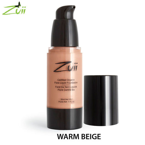 Zuii Certified Organic Flora Liquid Foundation - Warm Beige