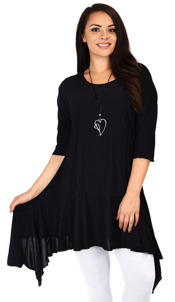 Plus Size Asymmetrical Swing Top Tunic Dress