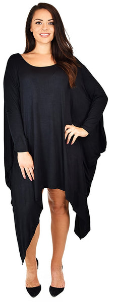 Plus Size Asymmetrical Comfortable Long Tunic Dress