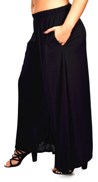 Plus Size Loose Fitting Boho Palazzo Pants