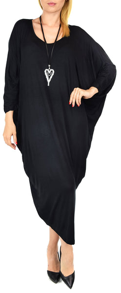 Plus Size Oversize Loose Fit Maxi 3/4 Sleeve Summer Dress