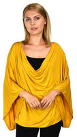 Plus Size Summer Tunic Blouse Top | Poncho Style Cover Up