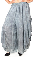 Dare2BStylish Women Loose Fit Elastic Waist Boho Wide Leg Palazzo Pants