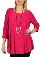 Essentials Swing Flare Tunic Shirt Top | Reg & Plus Sizes