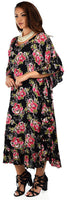 Soft Cotton Gauze Long Kaftan Caftan Cover Up Kimono Plus Sizes