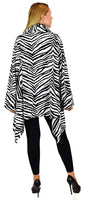 Dare2bStylish Women Plus Size Cover Up Duster Jacket, Animal Prints