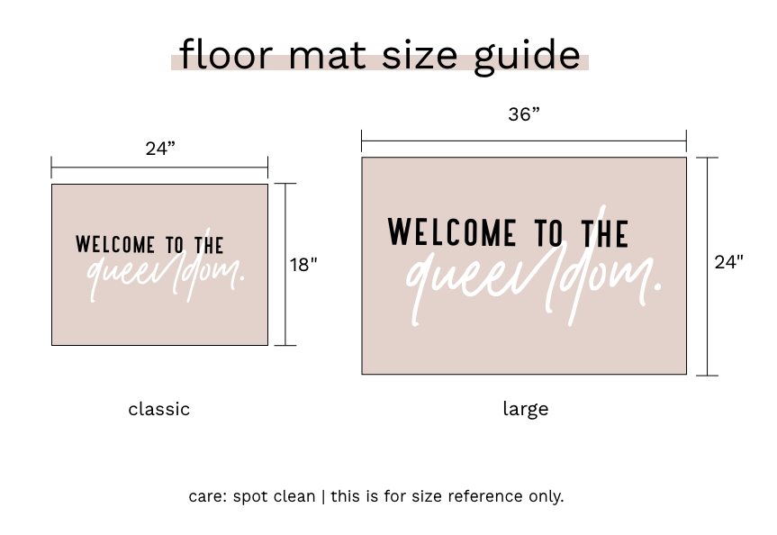 floor mat size guide