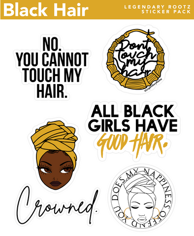 Black Hair | Sticker Pack