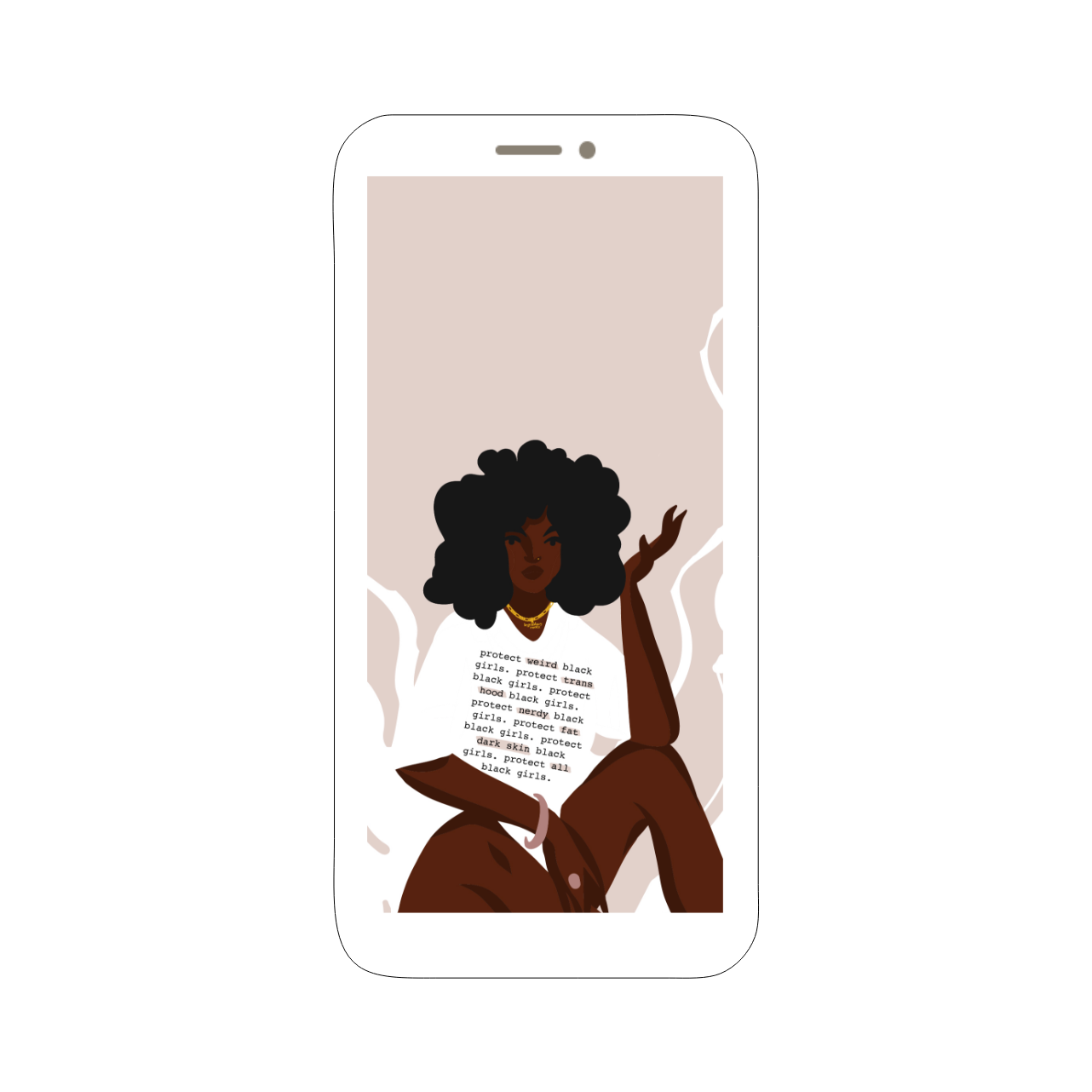 Protect All Black Girls | Wallpaper Pack