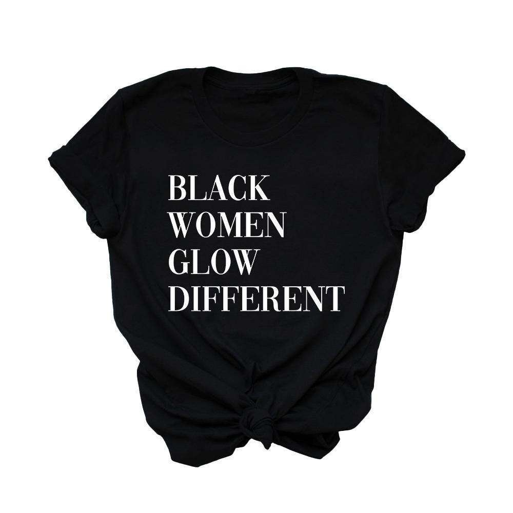 Black Women Glow Different | Tee - Legendary Rootz