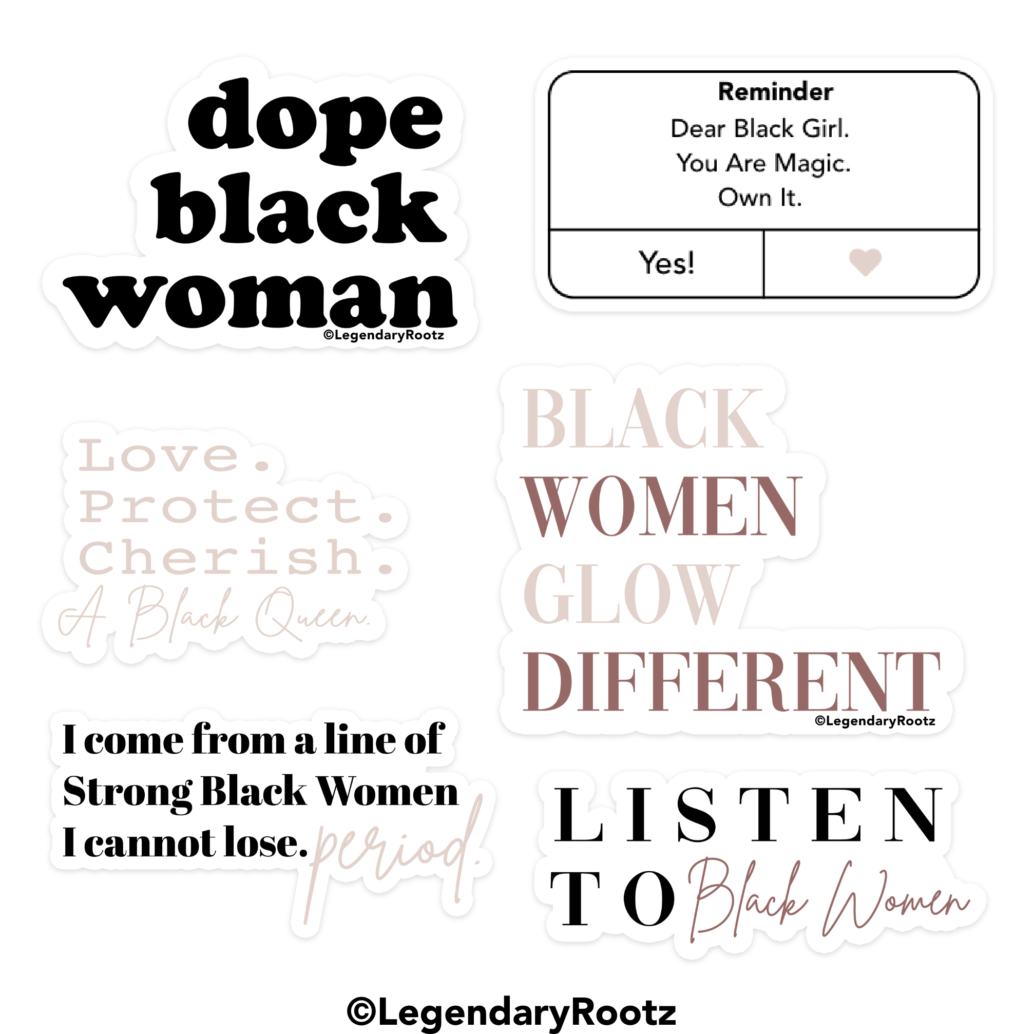 Dope Black Woman | Sticker Pack