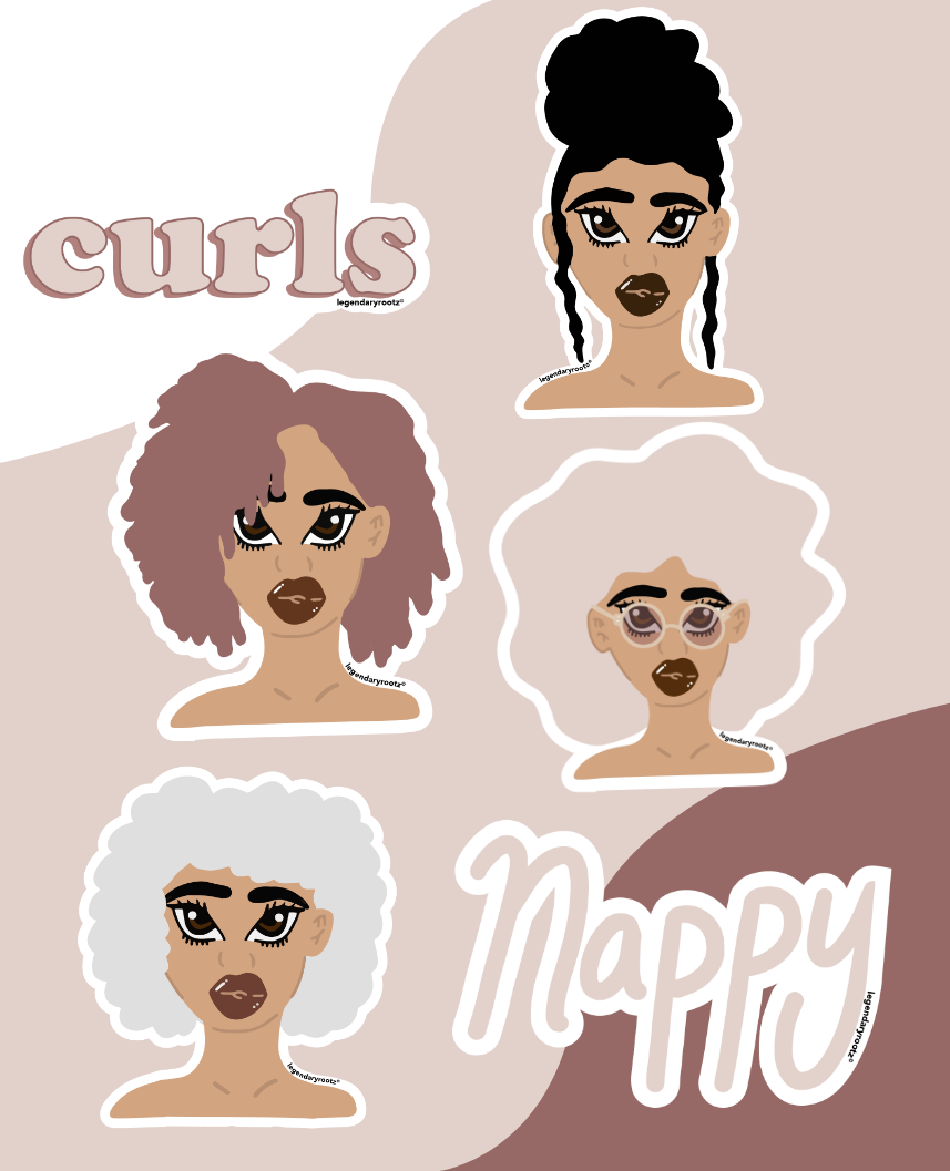 Curls For The Girls | Sticker Pack