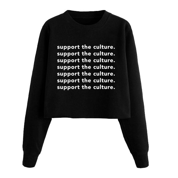 Support the Culture Crop Sweatshirt