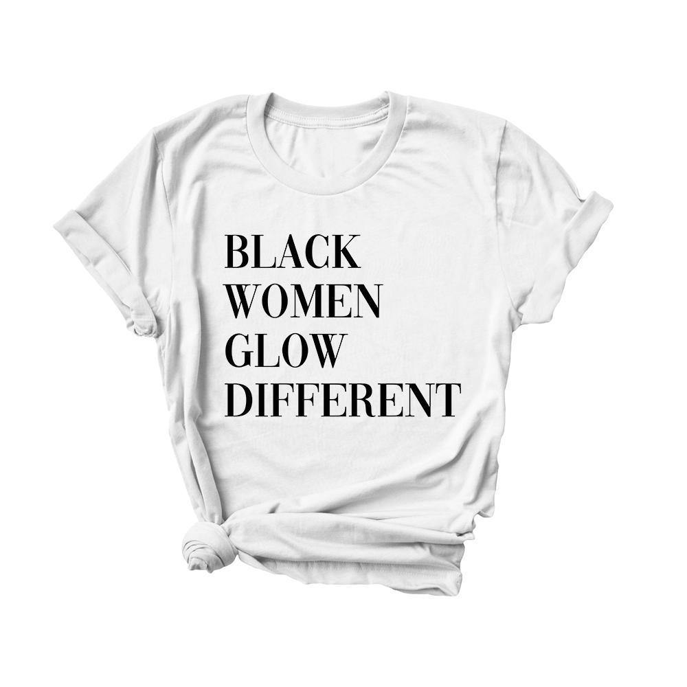 Black Women Glow Different | Tee