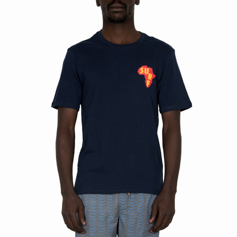 Mens Navy Surf Africa Tee