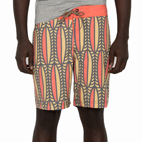 Mfazazana Boardshort - Red/Yellow